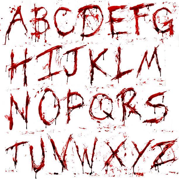 dripping bloody alphabet (a-z) - weihnachten 幅插畫檔、美工圖案、卡通及圖標
