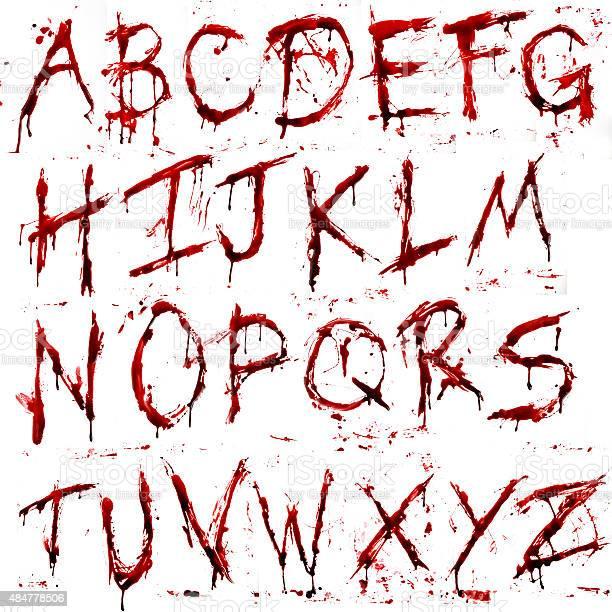 Dripping Bloody Alphabet向量圖形及更多2015年圖片