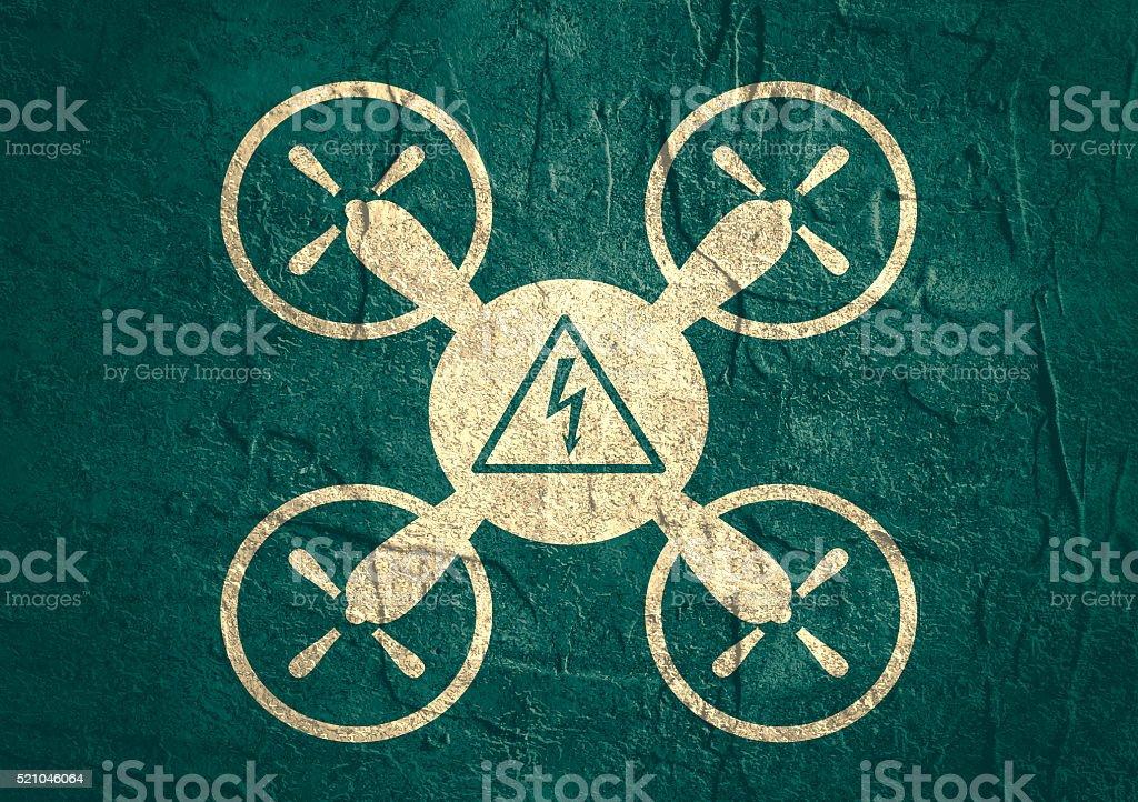 Hintergrundgeräusche Quadrocoptersymbol Hoch Spannung Gefahr Symbol ...