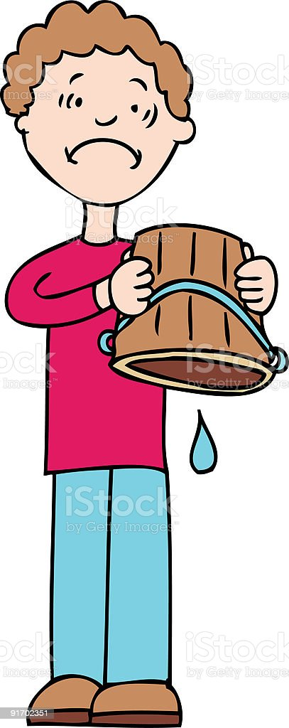 Drop in the Bucket royalty-free drop in the bucket stock vector art & more images of adult