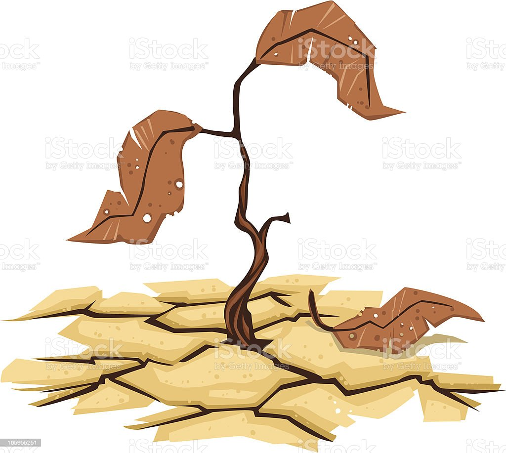 drought vector art illustration