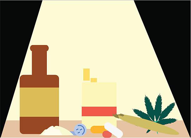 drug montage - ccsccs7 stock illustrations