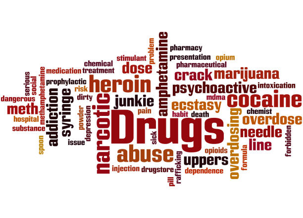 bildbanksillustrationer, clip art samt tecknat material och ikoner med droger, word cloud konceptet 4 - amphetamine pills