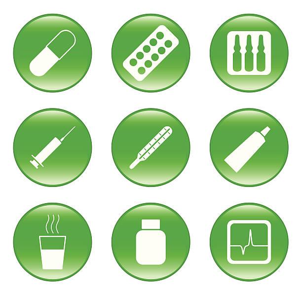 illustrations, cliparts, dessins animés et icônes de drogues-store-vecteur web icônes (avec boutons - pastille