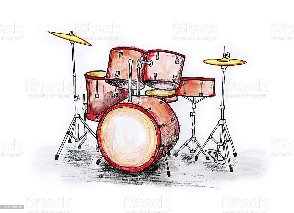Drumset royalty-free stock vector art