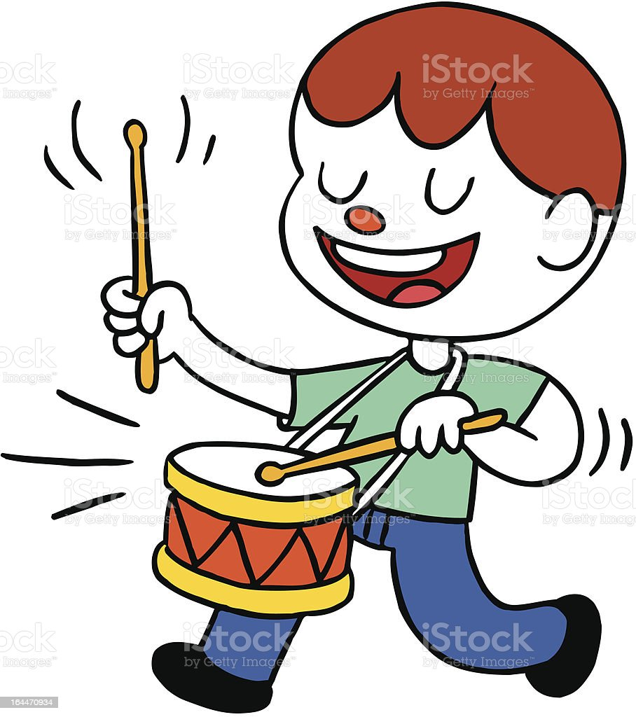 royalty free drummer boy clip art vector images illustrations rh istockphoto com marching band drummer clipart snare drummer clipart