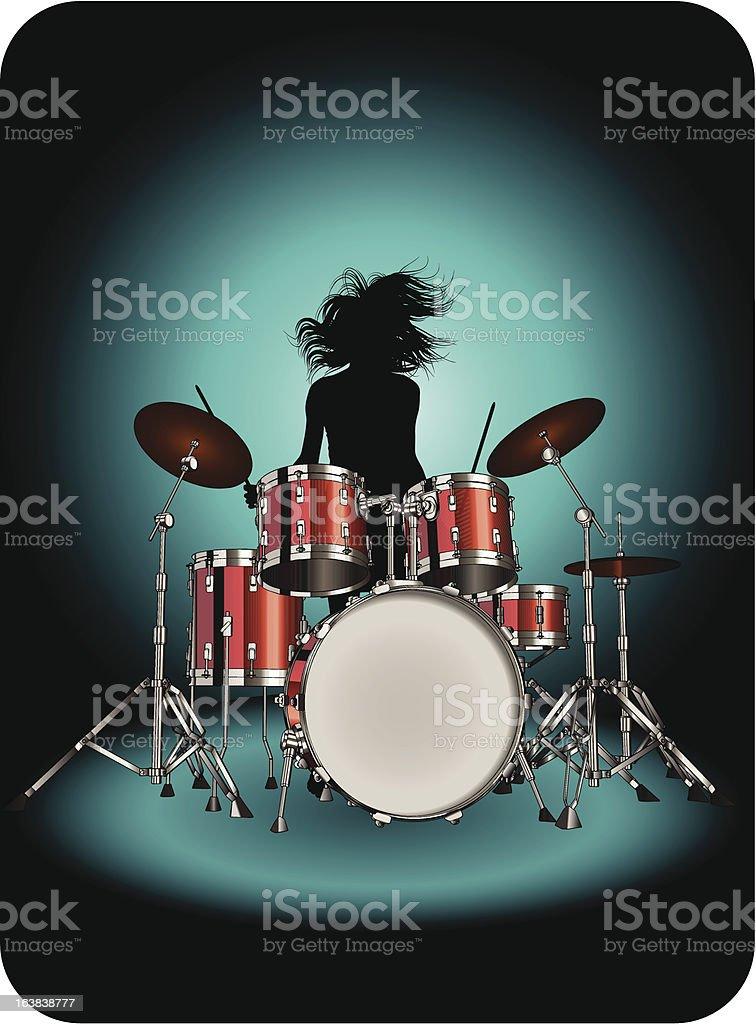 Drummer royalty-free stock vector art