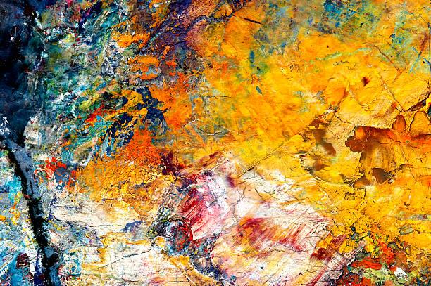 dry oil paints vector art illustration