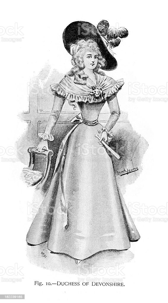 Duchess of Devonshire royalty-free duchess of devonshire stock vector art & more images of 19th century