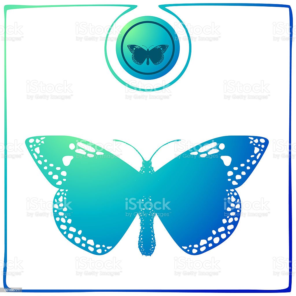 Duochrome Butterfly 05 royalty-free stock vector art