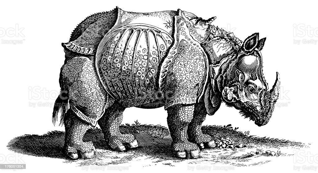 デューラーのサイアンティーク動物イラスト 19世紀のベクターアート