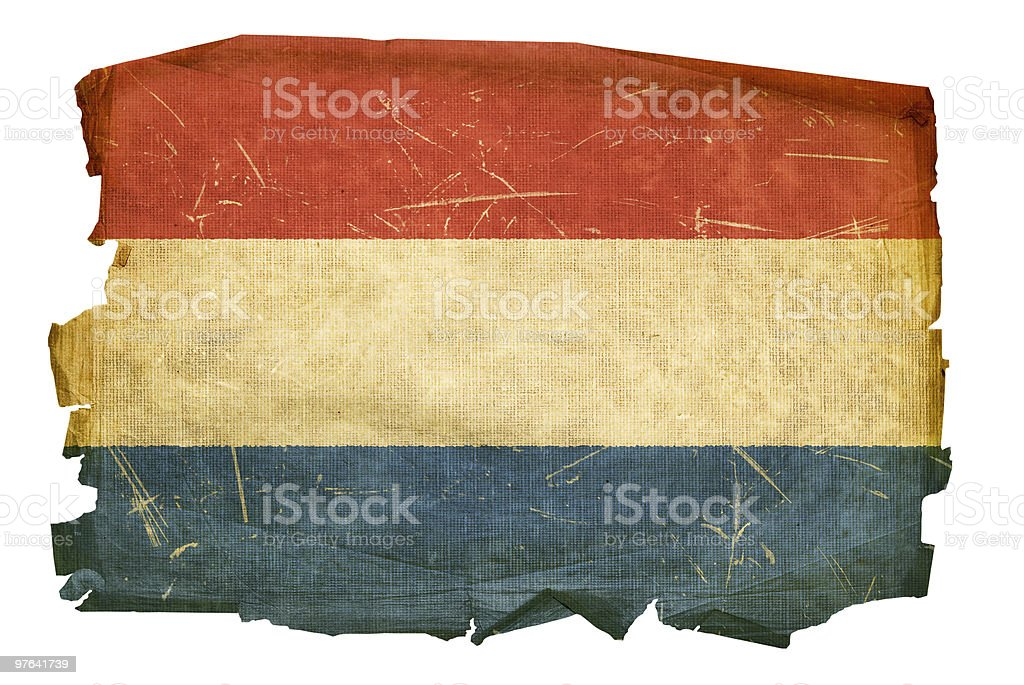 Dutch Flag old, isolated on white background. royalty-free stock vector art