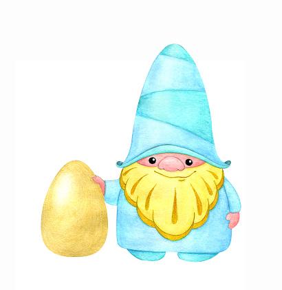 Dwarf with a golden egg.