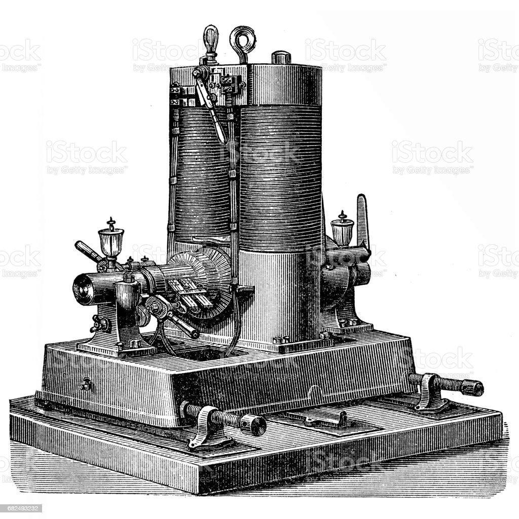 Dynamo machine ,Edison-Hopkinson ,1883 ilustración de dynamo machine edisonhopkinson 1883 y más banco de imágenes de 1880-1889 libre de derechos