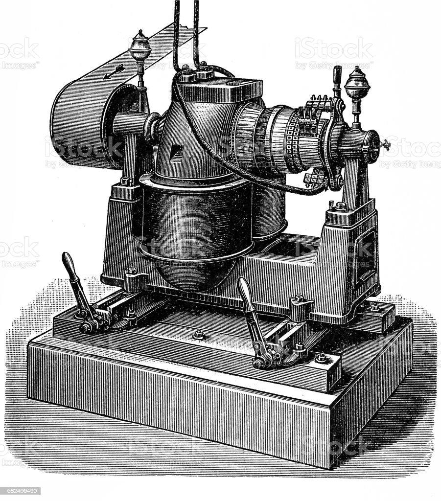 Dynamo machine ,Siemens model H royalty-free dynamo machine siemens model h stock vector art & more images of 1880-1889
