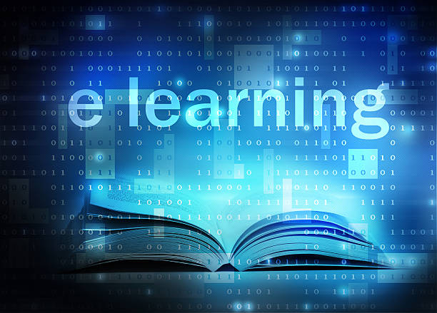 stockillustraties, clipart, cartoons en iconen met e learning - e learning