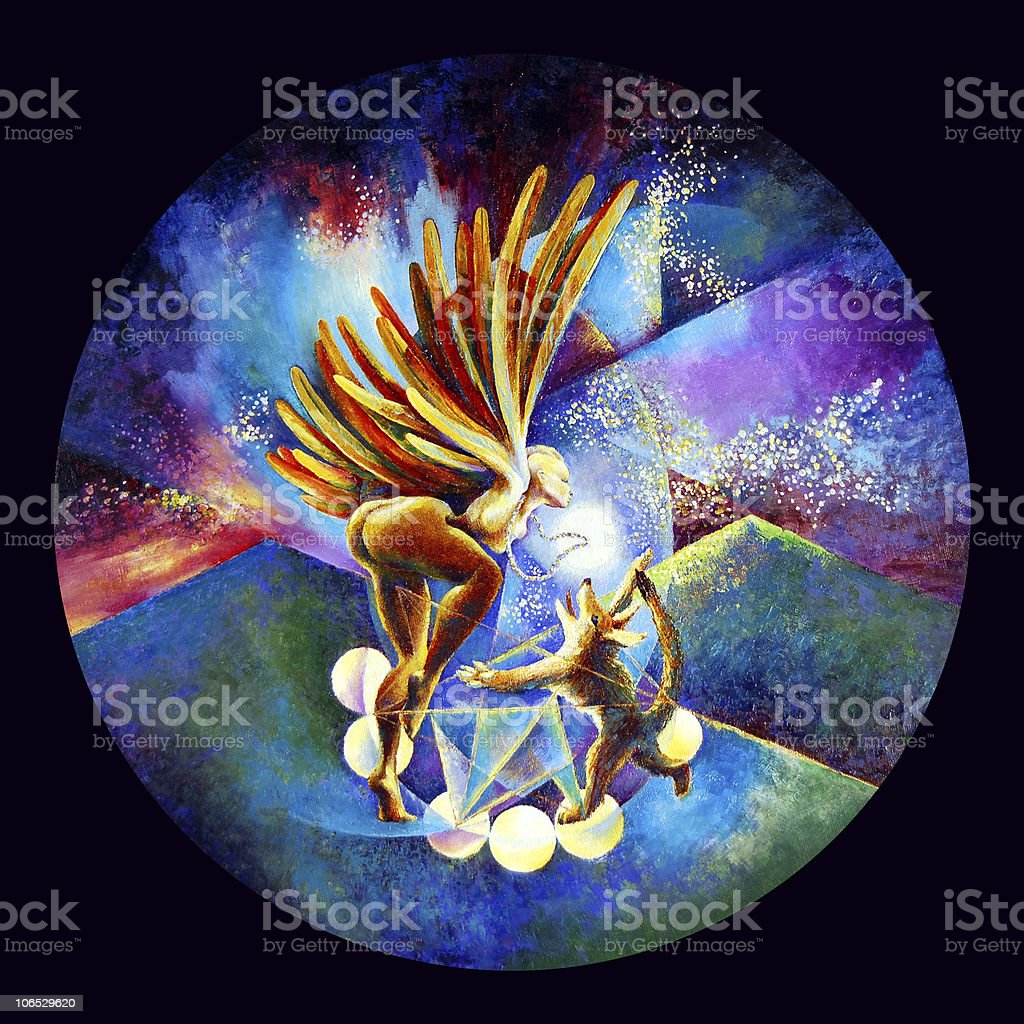 Eagle and Coyote Dance royalty-free eagle and coyote dance stock vector art & more images of animal body part