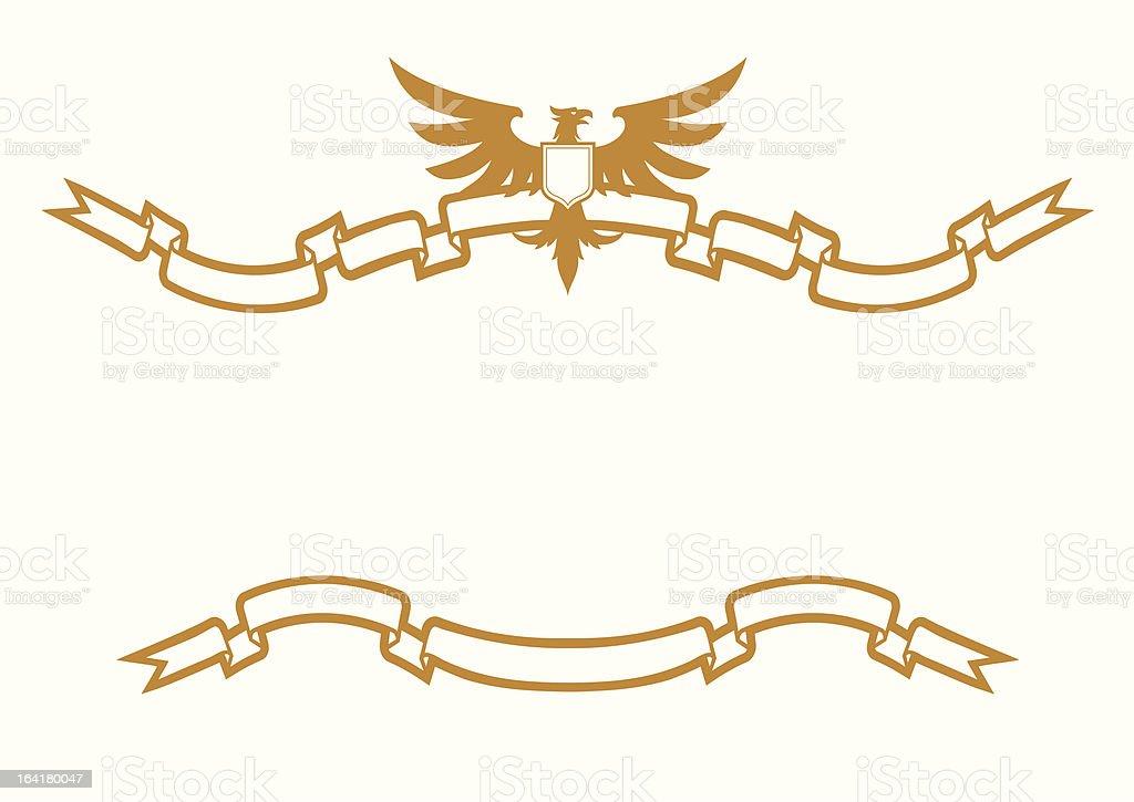Eagle And Ribbons royalty-free stock vector art