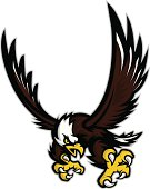 """""""Logo style eagle mascot, colored version. Great for sports logos & team mascots."""""""