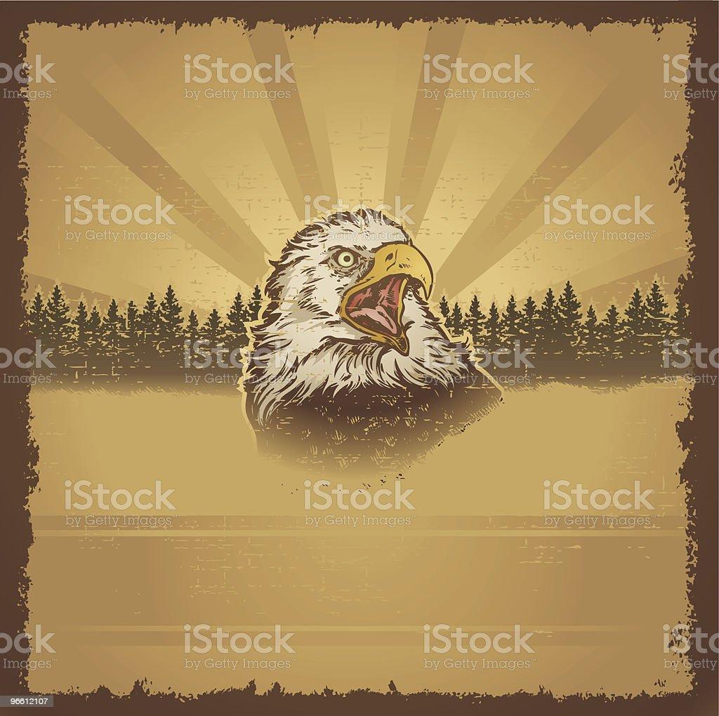 Eagle Grunge - Royalty-free Amerikaanse zeearend vectorkunst