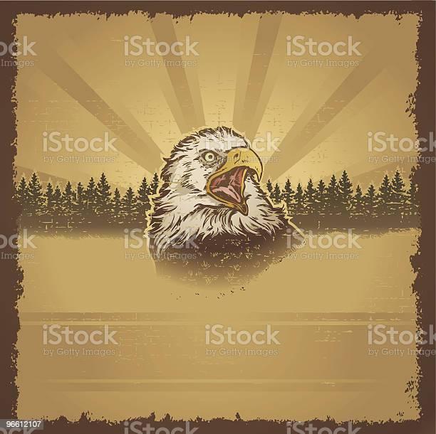 Eagle Гранж — стоковая векторная графика и другие изображения на тему Без людей