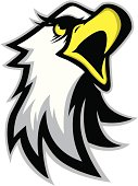 """""""Logo style eagle head mascot, colored version. Great for sports logos & team mascots."""""""