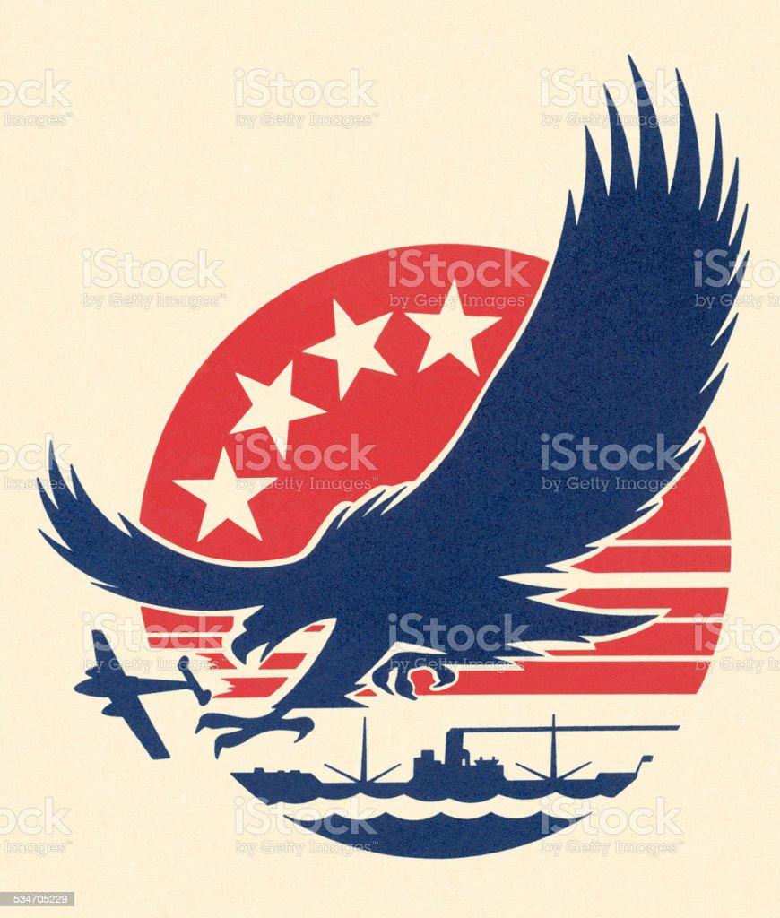 Eagle vector art illustration