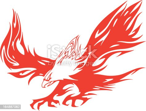 Eagle in Flames Vehicle Graphic (Vector)