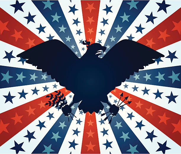 Eagle of Freedom vector art illustration