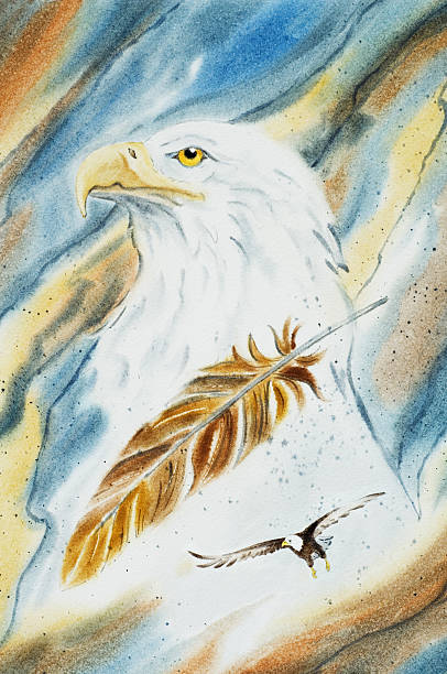 Eagle Portrait vector art illustration