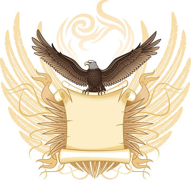 Eagle a desplazamiento - ilustración de arte vectorial