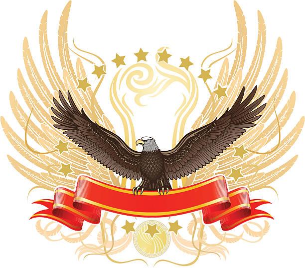 Después de la raya águila - ilustración de arte vectorial