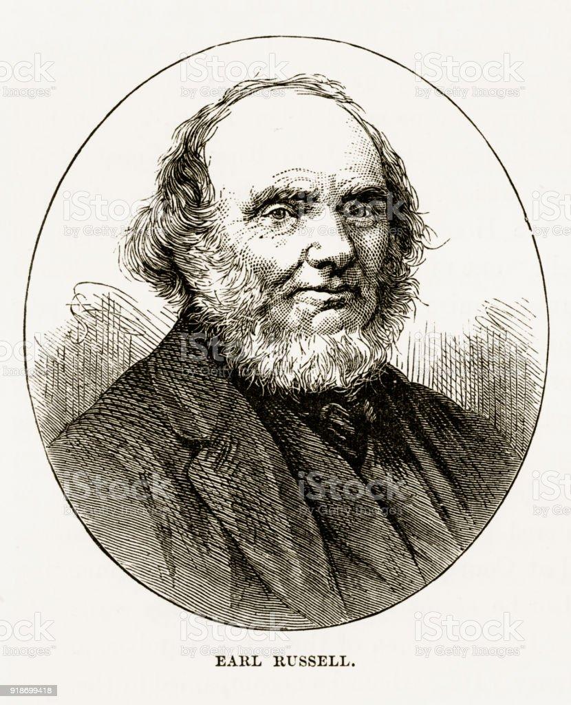 Earl Russell of Woburn, England Victorian Engraving, Circa 1840 vector art illustration