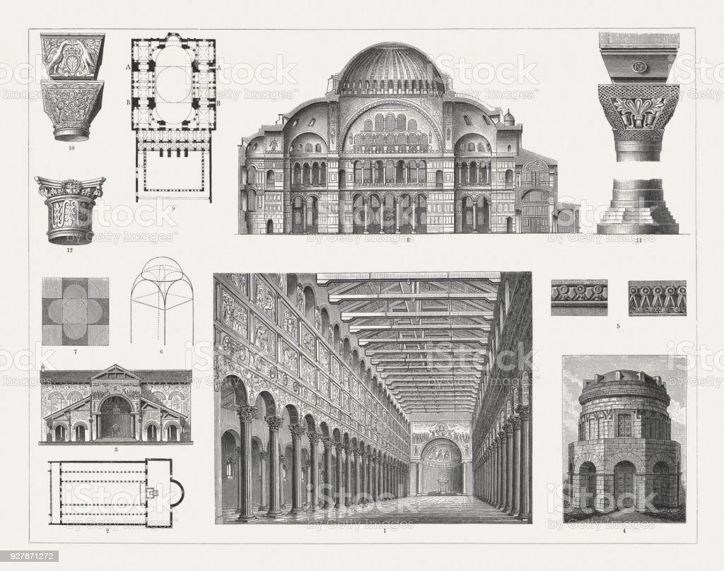 初期キリスト教とビザンチン建築木材彫刻1897 年に公開 ...
