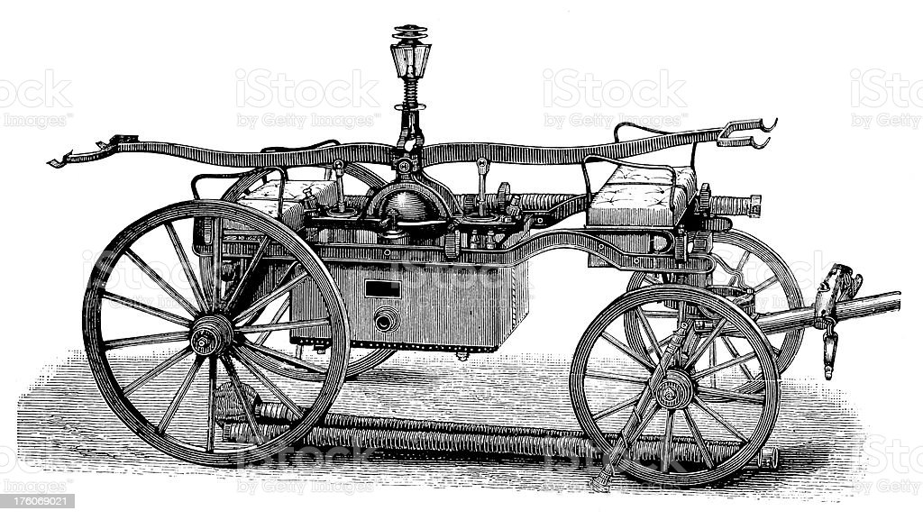 Early fire engine   Antique Design Illustrations royalty-free early fire engine antique design illustrations stock vector art & more images of 19th century