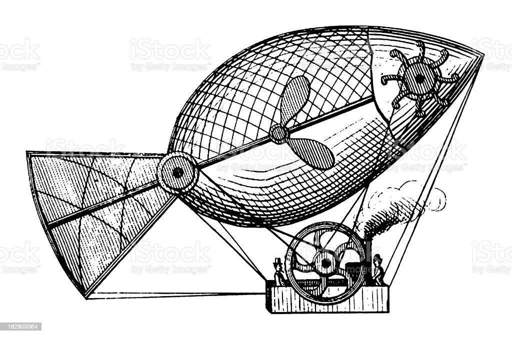 Early flying machine | Antique Scientific Illustrations royalty-free early flying machine antique scientific illustrations stock vector art & more images of 19th century