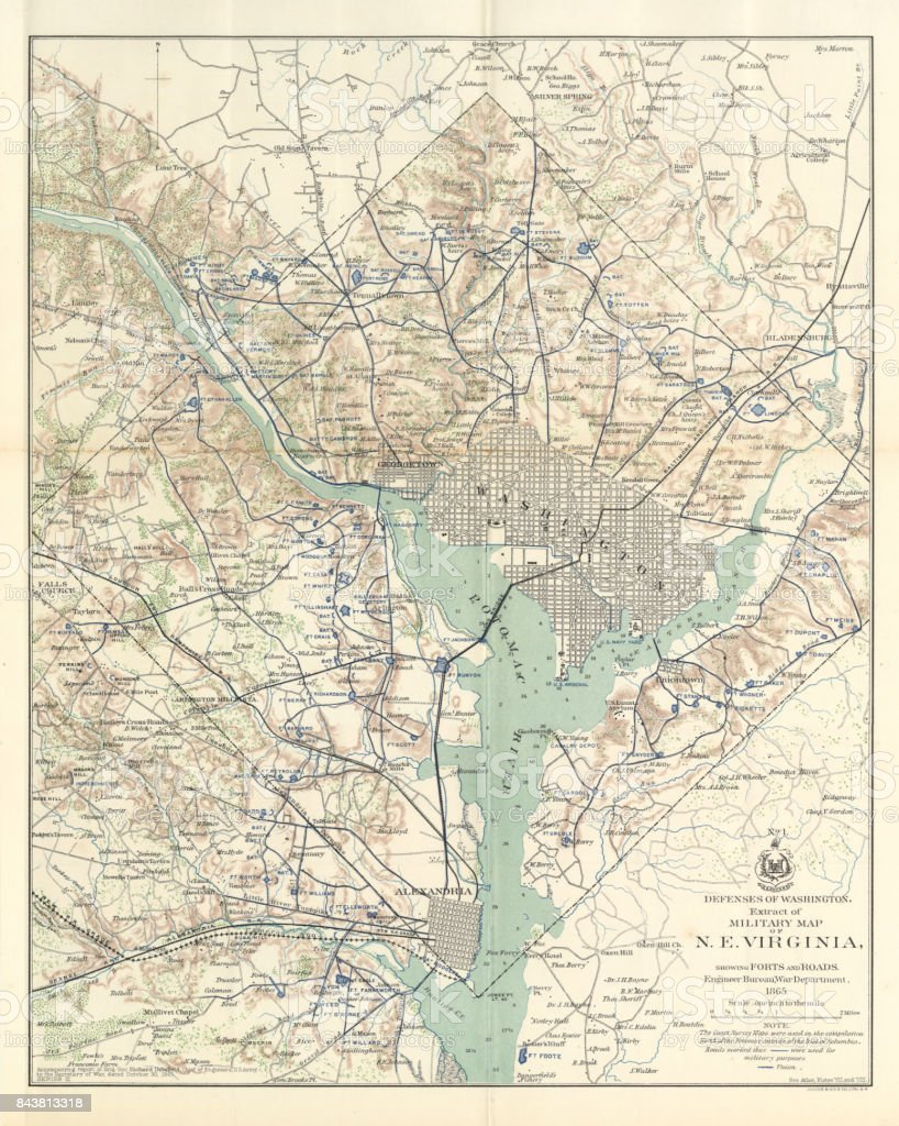 Early Map Of The City And Capitol Of Washington Dc United States - Dc us map