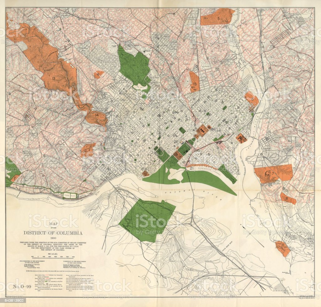 Early Map Of The City And Capitol Of Washington Dc United States
