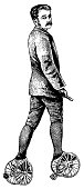 istock Early roller skates | Antique Design Illustrations 182176825