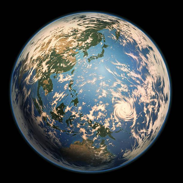 アースサイドでアジア太平洋ます。 - 地球 日本点のイラスト素材/クリップアート素材/マンガ素材/アイコン素材