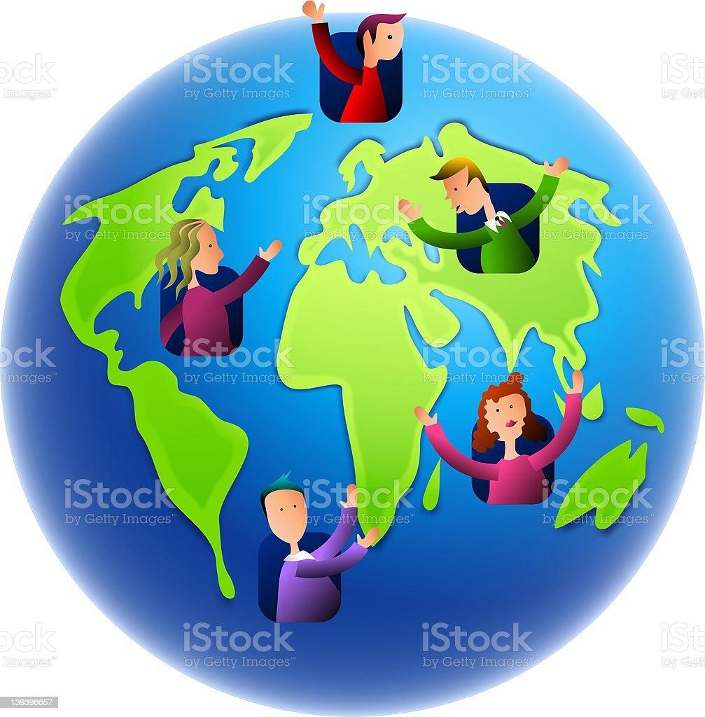 Earth Dwellers royalty-free stock vector art