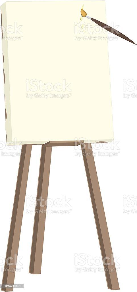 easel royalty-free stock vector art