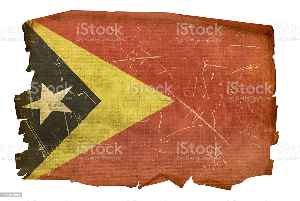East Timor Flag old, isolated on white background. royalty-free east timor flag old isolated on white background stock vector art & more images of aging process