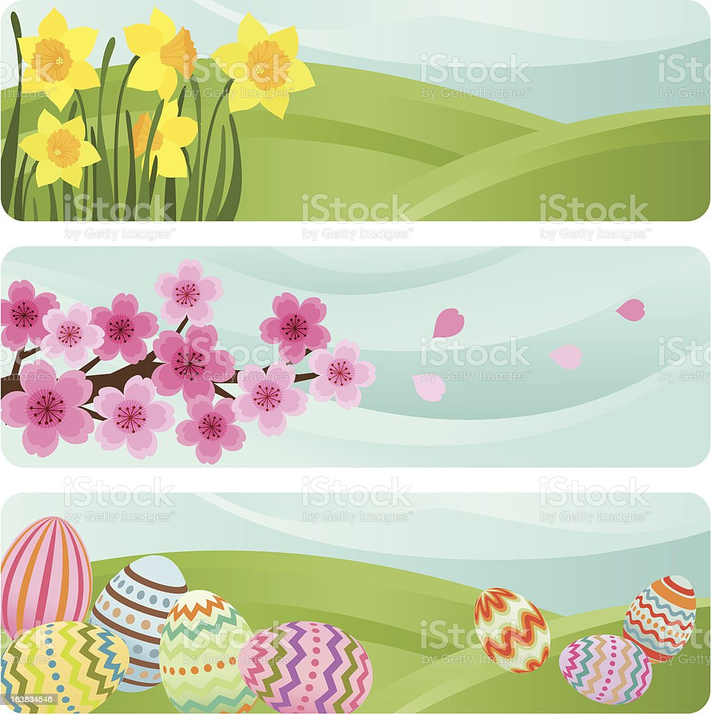 Easter banners vector art illustration