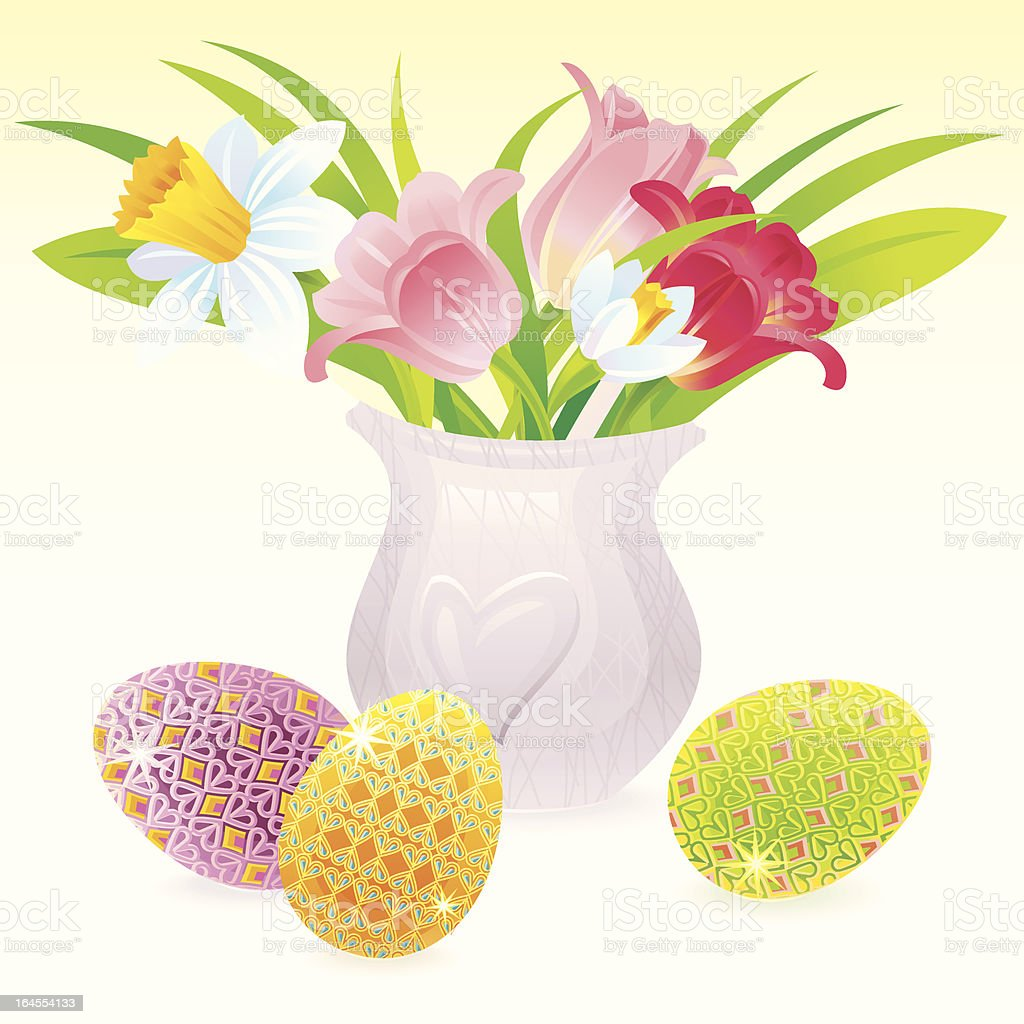 Easter Bouquet royalty-free easter bouquet stock vector art & more images of animal egg