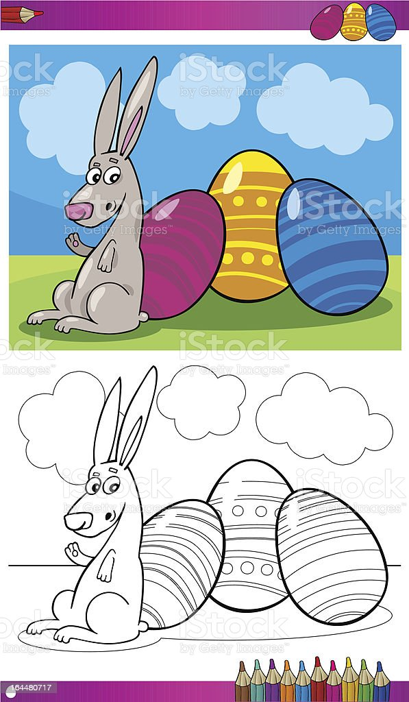 easter bunny cartoon for coloring royalty-free easter bunny cartoon for coloring stock vector art & more images of animal