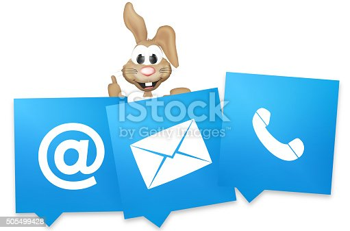 istock Easter Bunny Contact Us thumbs up 505499428