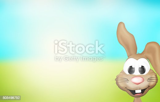istock Easter Bunny Sunny Nature Landscape Design 505498752