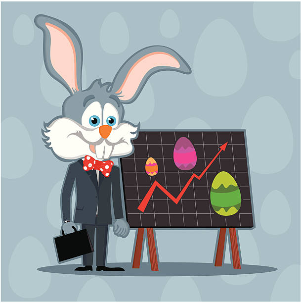 easter business bunny - lepro stock illustrations
