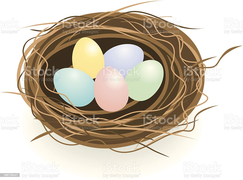 Easter Egg Nest royalty-free stock vector art